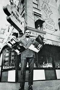Founder Alan Stillman in front of the original TGI Friday's in New York City.